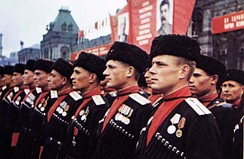 Kuban Cossacks during the Moscow Victory Parade of 1945