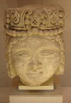 Head of Seljuq male royal figure, 12–13th century, from Iran.