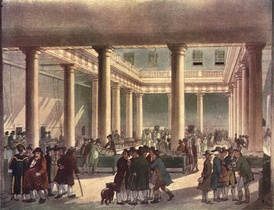Corn Exchange in London, circa 1809
