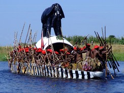 The Kuomboka ceremony of the Lozi people