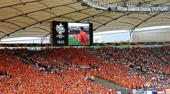 Dutch fans wearing the traditional orange colours at a 2006 World Cup match in Stuttgart