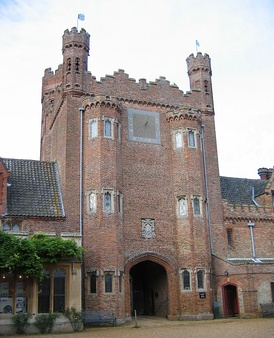 Gatehouse of Oxburgh Hall in Oxborough