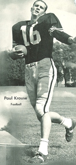 Paul Krause led the league in interceptions as a rookie in 1964 and holds the career record for interceptions.