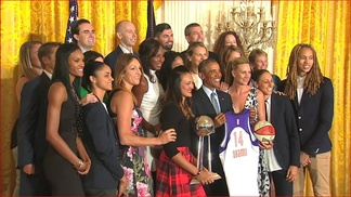 Phoenix Mercury at the White House to honor 2014 Championship