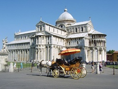 Some cathedrals are major tourist destinations and World Heritage Sites. Pisa is one of the best known.