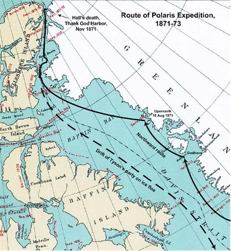 Route of the Polaris expedition, 1871–1873
