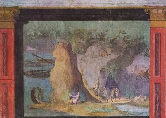 Landscape with scene from the Odyssey, Rome, c. 60–40 BCE