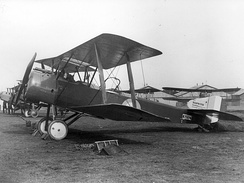 A Sopwith 1½ Strutter #A1924 of 70th Squadron RAF. Wrecked 20 October 1916