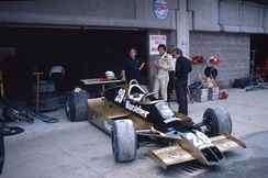 Patrese in the Arrows A1 at the 1979 Dino Ferrari Grand Prix.