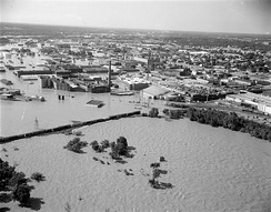 Flooding of Old Manchester during Hurricane Agnes, 1972