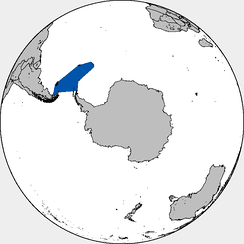 Approximate area of the sea in the Southern Hemisphere