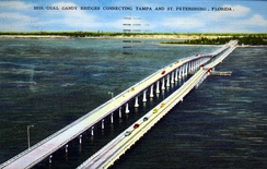 1969 postcard of the Gandy Bridge by the Hartman Litho Sales Company