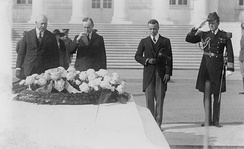 President Calvin Coolidge at the US Tomb of the Unknown Soldier, 1923