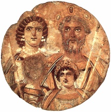 The Severan Tondo, c. 199, Severus, Julia Domna, Caracalla and Geta, whose face is erased