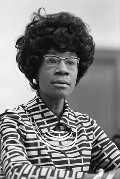 Shirley Chisholm was the first major party African-American candidate to run nationwide primary campaigns