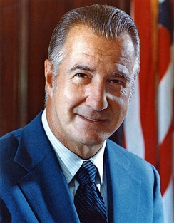 Spiro Agnew, 39th Vice President of the United States, 1969–1973, under President Richard Nixon
