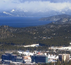 Stateline is an important Tahoe resort town on the shores of Lake Tahoe.