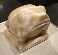Early Dynastic (c. 3000 BC) frog statuette)