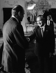 Gerald Ford and Suharto on 6 December 1975, one day before the invasion.