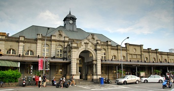 Hsinchu Station in Hsinchu City, Taiwan.