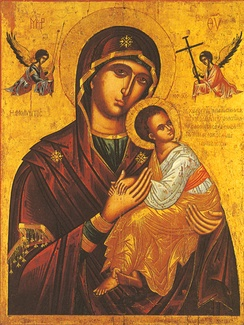 Eastern Orthodox icon of the Theotokos of the Passion