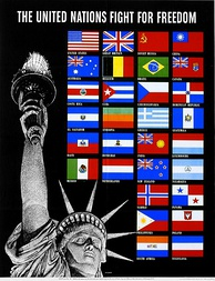 Wartime poster for the United Nations, created in 1941 by the U.S. Office of War Information