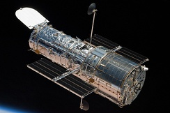 The Hubble Space Telescope shortly after the STS-125 maintenance mission in 2009.