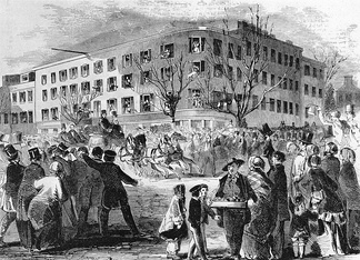 Washington DC's Willard's Hotel was the site of the unsuccessful 1861 Peace Conference.