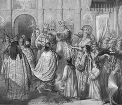 Crowning of Stefan, by Anastas Jovanović.