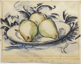 Three Pears, ca. 1888-90, Henry and Rose Pearlman Collection on long-term loan to the Princeton University Art Museum