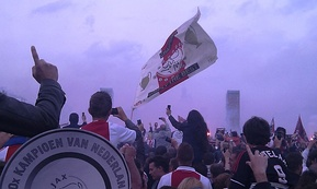Ajax supporters celebrating the club's 30th Dutch national championship in 2011
