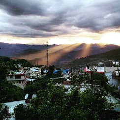 view of Almora after rains