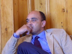 Kwame Anthony Appiah during a lecture and visit to Knox College in 2006.