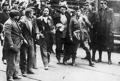 Arrested workers during the Asturian miners' strike of 1934.