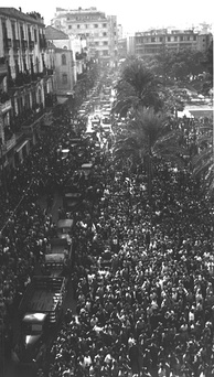 Martyrs' Square in Beirut during celebrations marking the release by the French of Lebanon's government from Rashayya prison on 22 November 1943