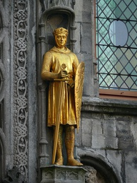 Statue of Philip at the Basilica of the Holy Blood, Bruges