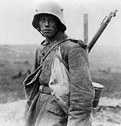 German soldier on the Western Front in 1916
