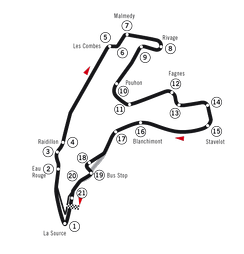 Spa-Francorchamps, as used in 2004 and 2005
