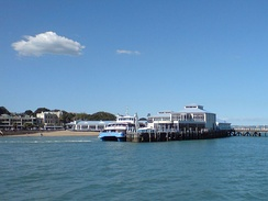 Ferry travel is a common type of public transport for some Auckland destinations