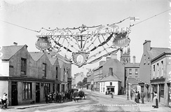 Display in celebration of Queen Victoria's Diamond Jubilee on Alma Place in Coleraine, County Londonderry, Ulster