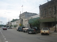 Downtown Homer is centered about the Claiborne Parish Courthouse, constructed in 1860.