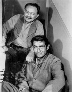 Robinson and his son in a 1962 episode of Dick Powell's Zane Grey Theatre.