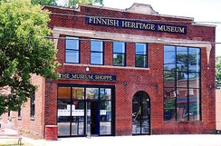 The new home of the Finnish Heritage Museum, on High Street in Fairport Harbor, Ohio.