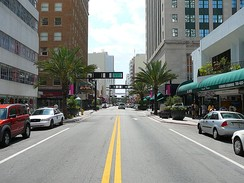 Flagler Street in Downtown Miami