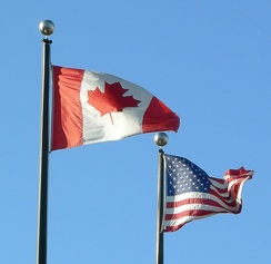 Flags of Canada and the United States