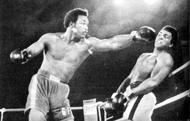 Foreman (left) v Ali in Kinshasa