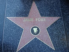 Foxx's star on the Hollywood Walk of Fame