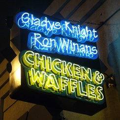 Knight and Ron Winans' Chicken & Waffles in Atlanta.