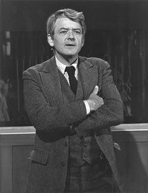 Hal Holbrook as the Stage Manager in the 1977 television adaptation.