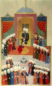 Accession of Mehmed II in Edirne, 1451